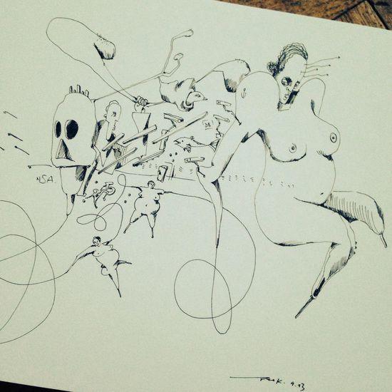 überwacht NSA überwachung Zeichnung  Art