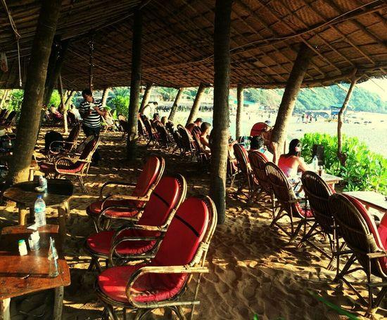 Weekend! Goa Travel Travel Destinations Traveling India Fun Alcohol Relax Beach Bar Hut Food Restaurant Rest