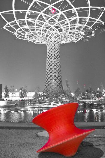 Blackandwhite Coloursplash Red Expo Italy Tree Of Life Art Photography Rosso Trottola