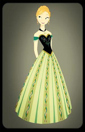 I love Anna's dress. Frozen アナと雪の女王 Disney Princess