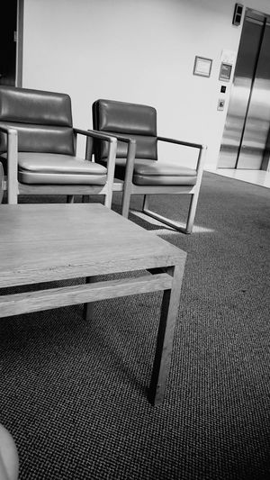 Home Interior Indoors  Wood - Material Hardwood Floor Home Improvement DIY Chair No People Day Waiting Room Hospital Blackandwhite