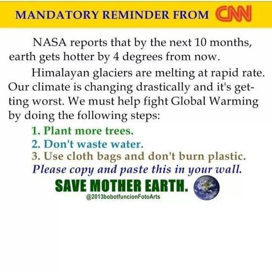 A friendly reminder. SaveMotherEarth Globalwarming Climatechange Actnow educate repost philippines igers igerscebu instagramhub tagstagram
