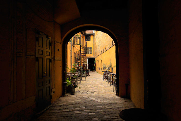 EyeEm Selects Arch Built Structure No People Architecture Day Copenhagen, Denmark Copenhagen Streets Corridor Indoors