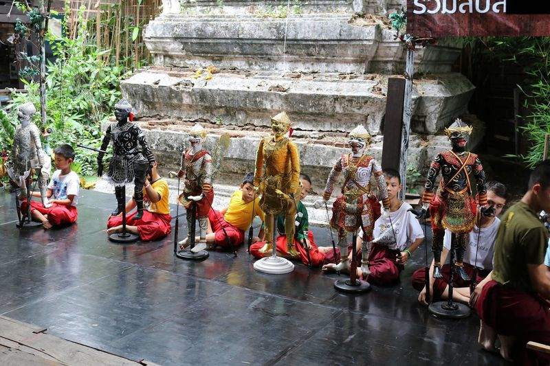 Architecture Art Boy Playing Real People Statue Thai Puppet Show Thailand Photos Thailandtravel