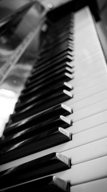 The sound of romance Arts Culture And Entertainment B&w Close-up Detail Focus On Foreground High Angle View In A Row Music Musical Equipment Musical Instrument No People Piano Piano Keys Romantic Romantic Music Sensitive Photo Piano Moments