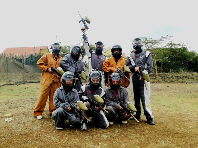 Medium Group Of People Adults Only Headwear Outdoors People Group Of People Paintball Team Paint Ball Paint Close-up Paint Balling EyeEmNewHere Looking At Camera The Week On EyeEm
