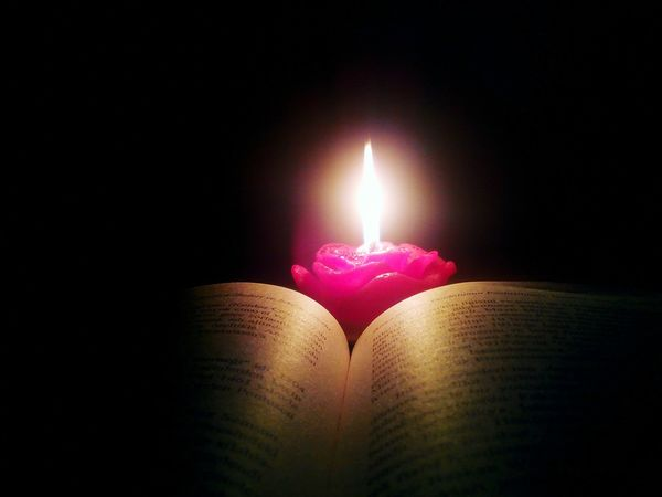 Books ♥ Open Edit Reading A Book Candlelight