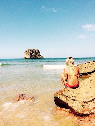 Playa De La Ballota Asturias Llanes Verano