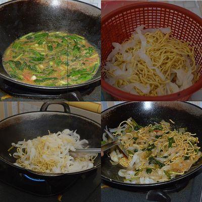 """Mie kwitiaw becek"", rasanya kering-kering basah gimana gitu lah...Makanan Masakanindonesia Masakan Masakanrumah Masakanrumahan Foodies Food Cook  Cooking Chef Koki Kuliner Culinary Cullinary"