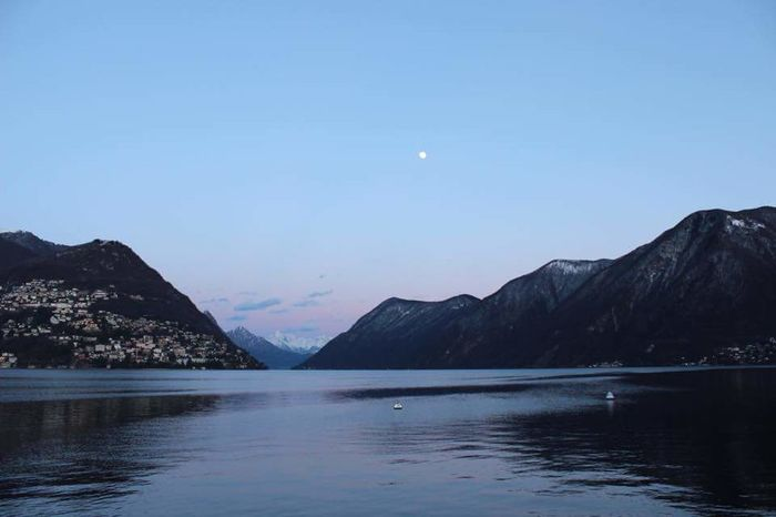 Svizzera Moon Lake Nature Water Mountain Winter Sky Reflection Beauty In Nature Scenics Tranquility No People Landscape Outdoors Travel Destinations Clear Sky Night Astronomy Galaxy First Eyeem Photo