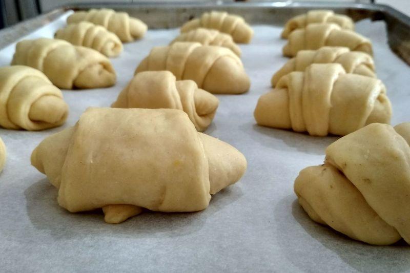 Dough Croissant Croissant Aux Chocolate Baking Baking Sheet