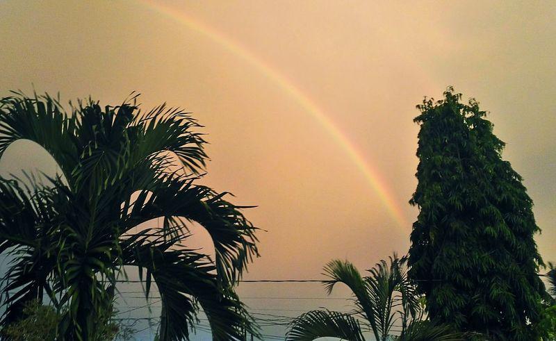 Rainbow Sunset. Rainbow🌈 Rainbow Sky Sunset Clouds And Sky Sky Attemptsatphotography EyeEm Rural Philippines Asuszenfone2
