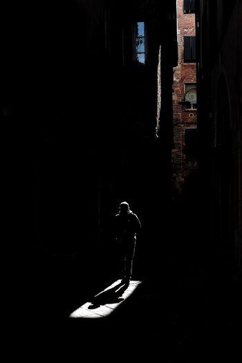 Man at night