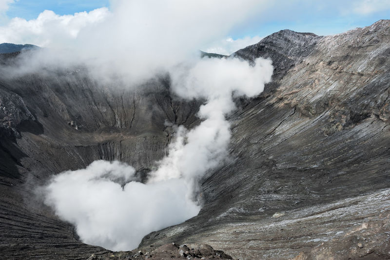 Beauty In Nature Day Emitting Environment Erupting Formation Geology Heat - Temperature Landscape Mountain Mountain Range Nature No People Non-urban Scene Outdoors Physical Geography Power Power In Nature Scenics - Nature Smoke Smoke - Physical Structure Steam Volcanic Crater Volcano