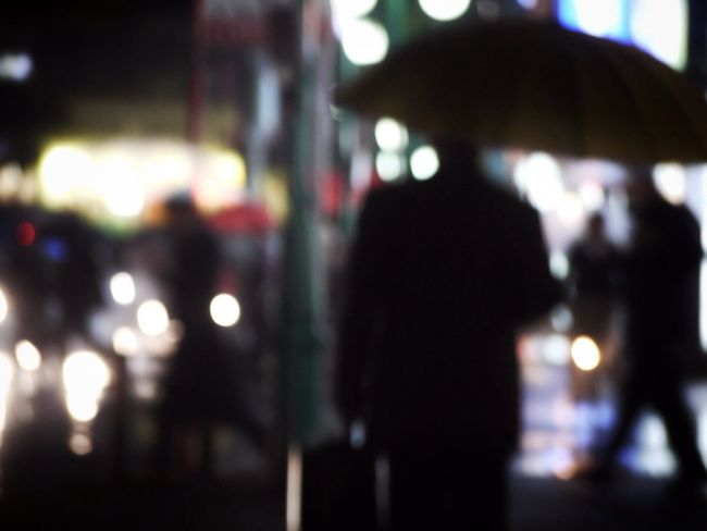 Night Photography Bokeh Rainy Days Silhouette
