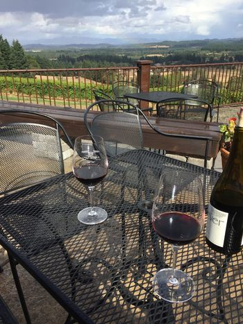 Sarver View Alcohol Chair Day Drink Drinking Glass Food And Drink Nature No People Outdoors Place Setting Sky Table Valley Vineyard Wine Wineglass