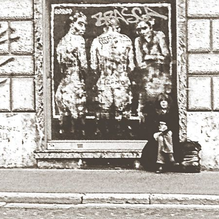 Roma Rome street Italy Italia Day Outdoors Real People Text Low Section Human Leg Men Architecture People Human Body Part Adult