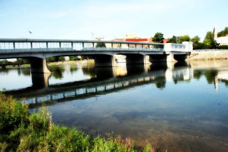 Arch Arch Bridge Architecture Bridge Engineering Footbridge Kolonadovy Most Piešťany River Slovakia
