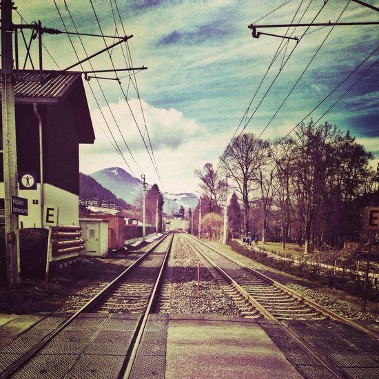 Landscape Taking Photos Spring Railway