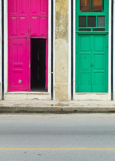 pink door and