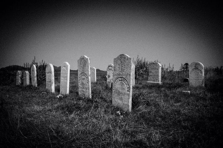 Black & White Cemetery Maine