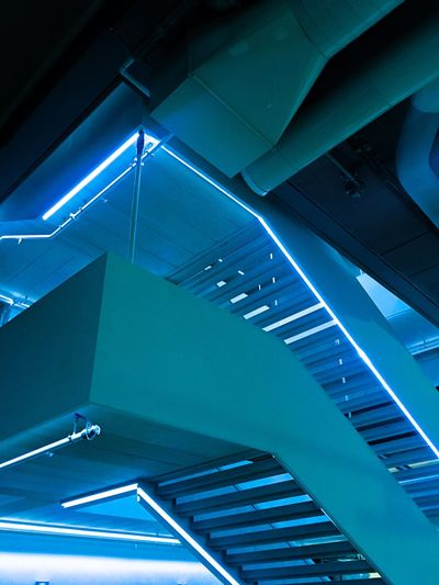 Blue neons