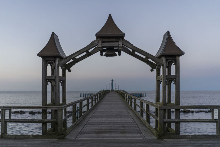 Architecture Beauty In Nature Bridge - Man Made Structure Building Exterior Built Structure Day Horizon Over Water Nature No People Outdoors Pier Railing Scenics Sea Sky The Way Forward Travel Destinations Water Wood - Material