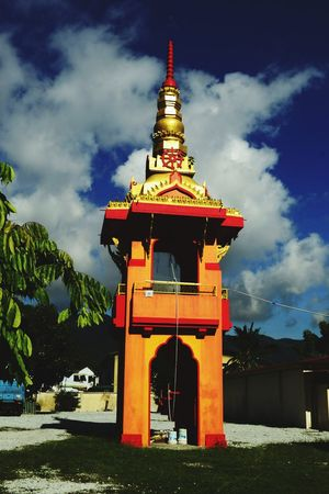 Bell tower at the Buppharam Buddhist Temple, Penang, Malaysia. Bell Tower - Tower Buppharam Buddhist Temple Travel Destinations Outdoors Spirituality Nawfal Penang Island Architecture Religion Multi Colored Built Structure Building Exterior Gold Red Place Of Worship Ornamental Religious  Penang, Malaysia