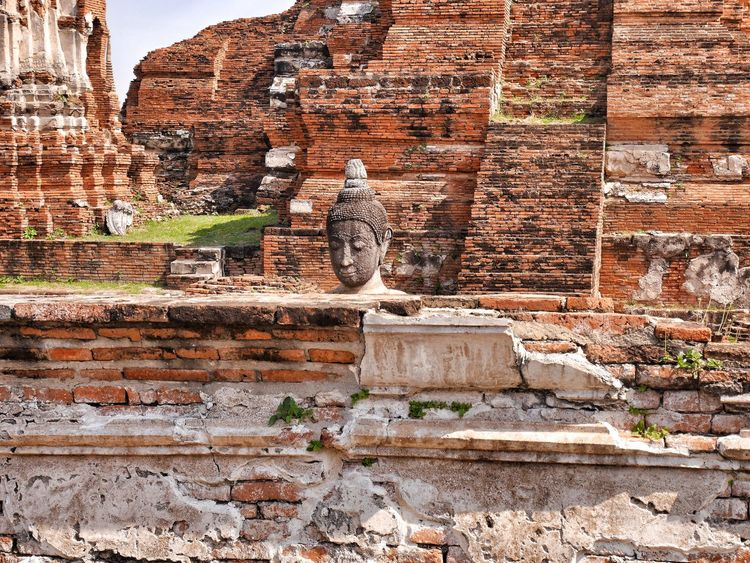 Built Structure Day Outdoors No People Brick Wall History Building Exterior Architecture Ancient Civilization Ayuttaya Thailand Thailand Photos Travel In Thailand EyeEm Gallery