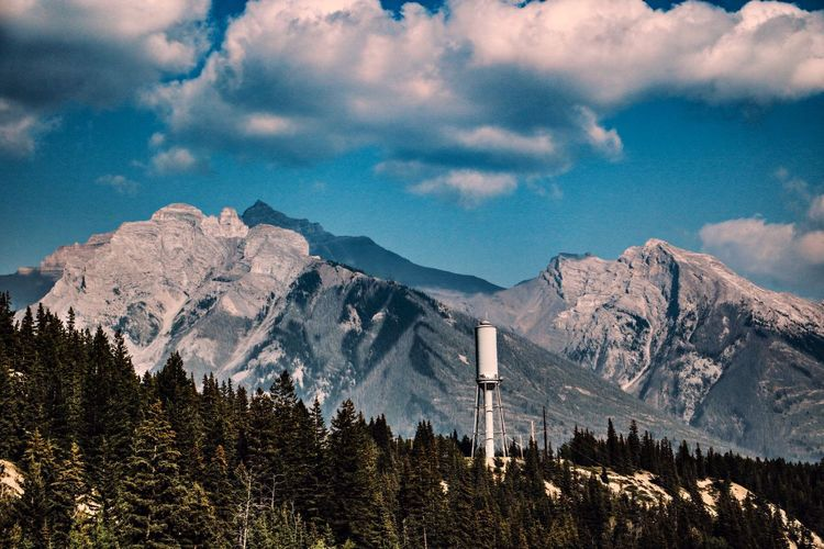 Mountain Mountain Range Scenics - Nature Nature Tranquil Scene Beauty In Nature Landscape Tranquility Canada Canada Travel Sky Cloud - Sky Forest Outdoors Day