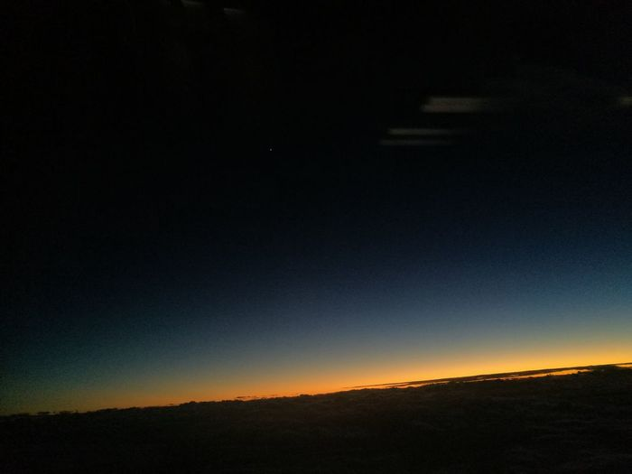 Sunrise from the plane Sky Beauty In Nature Nature Landscape Dawn High Altitude Outdoors Original Photography Cloud - Sky Trilight Lonely Star