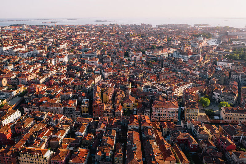 Venice, Italy. Where's your favourite place to explore the city? Week On Eyeem Architecture Building Exterior Cityscape City Built Structure Crowded Building Sky High Angle View Roof Nature Day House Aerial View Town Outdoors TOWNSCAPE Urban Sprawl Venice Italy Drone  Dji Mavic 2 Pro Venice, Italy
