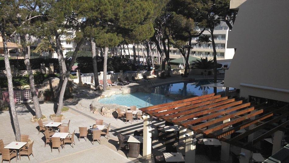 der pool am morgen Cala Ratjada