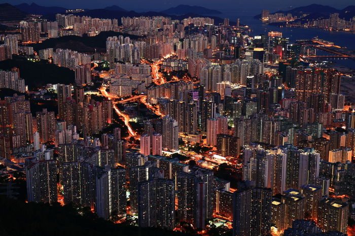 Night Photography Cityscape Illuminated Outdoors Mix Yourself A Good Time Lion Rock Great Outdoors The Hong Kong Discoverhongkong 16-35mm F4L Canon Canonphotography The Week On EyeEm Hello World Tadaa Community Fresh On Market 2017 Mobility In Mega Cities
