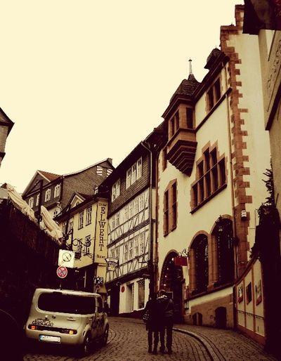 Altstadt in Marburg Deutschland Old Town Marburg An Der Lahn Germany