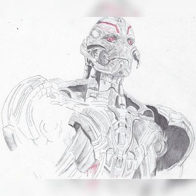 """We can tear them apart.. from the inside.."" Just another pic of ultron :3 a unfinished sketch though hope everyone likes though Marvelentertainment Sketch Ageogultron Theavengers Drawing Doodle Illustration Portrait Ultron Ultronprime Mcu Nerd Comics Movies Art Instaartist"