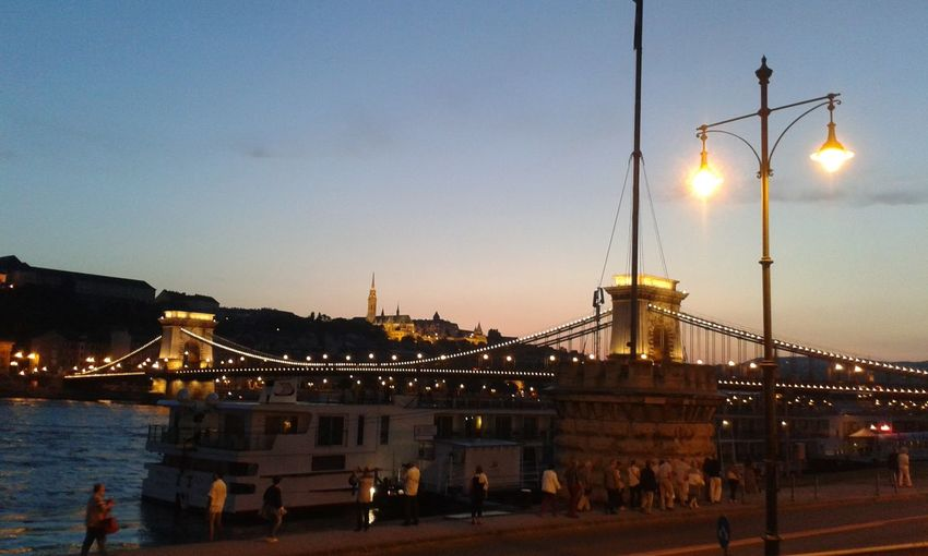 City Dusk Tourism Travel Travel Destinations Business Finance And Industry Sky Architecture Bridge - Man Made Structure Illuminated Built Structure Sunset Night Cityscape Water Outdoors People Art Streetphotography Budapest, Hungary Budapest