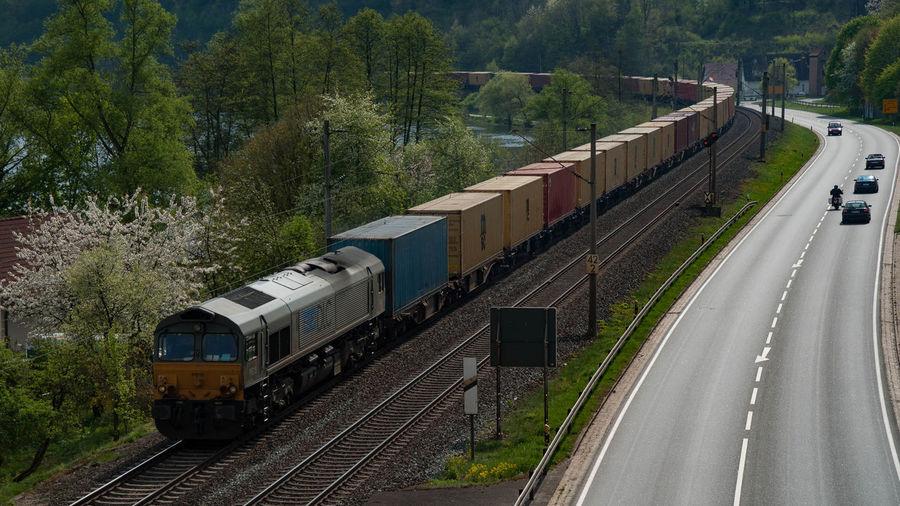 Class 66 Container Eisenbahn Freight Train Güterzug Langenprozelten Main Railway
