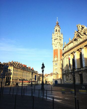 Lille Architecture Travel Destinations Built Structure Building Exterior Outdoors Sky No People Day Belfry 19th Century Buildings Sunny Day Lille France🇫🇷