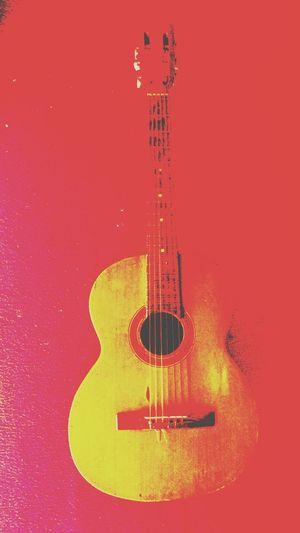 Violão Colored Background Music No People Close-up Instrumento Musical