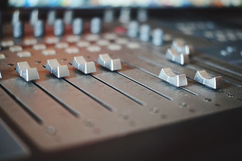 TakeoverMusic Sound Mixer Selective Focus Close-up Music No People Recording Studio Mixing Sound Recording Equipment Technology Control Panel Close Up Technology
