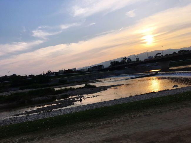 River Riverside Sunset