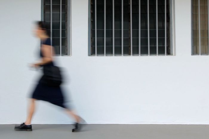 Black Shoes Blur Blurred Motion Casual Clothing Fast Pace Footpath Full Length Leisure Activity Lifestyles Motion Shophouses  Tiong Bahru Walking
