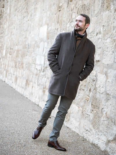Young handsome well-dressed model and actor strolling on the streets of Paris Actor Adult Autumn Fashion Man Paris Strolling Well-dressed Cold Temperature Day Handsome Model One Man Only One Person Outside Photobook Portrait Posing Russian Street Photography Walking Young Adult