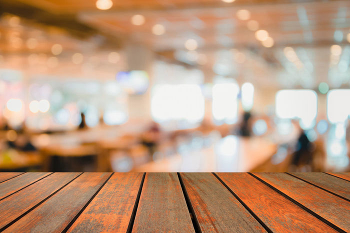 blur image wood table on food court background Business Center Chair Coffee Court Desk Dinner Dinning Abstract Backgpound Blur Blurry Bokeh Cafe Canteen Color Customer  Decorator Defocus Defocused Design Empty Focus Food Lifestyles