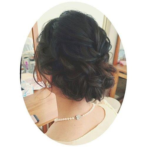 最近、編みこみ率が増! ヘアセット ヘアアレンジ アップ Hair ブライダル Byshair Locari Love 編みこみ