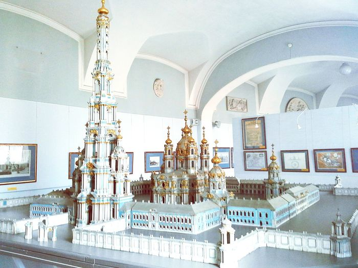 Smolniy Cathedral Maquete Architecture Academyofart Saint Petersburg