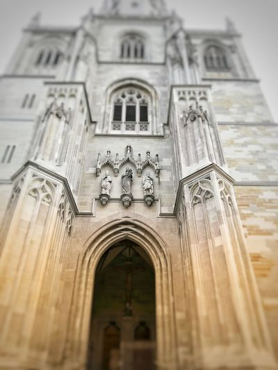Historical Building Built Structure Building First Eyeem Photo Germany FirstEyeEmPic First Eyem Photo Deutschland Curch Kirche Photo Photography Konstanz City Place Of Worship Spirituality Religion History Façade Cross Arch Rose Window Architecture Historic My Best Photo