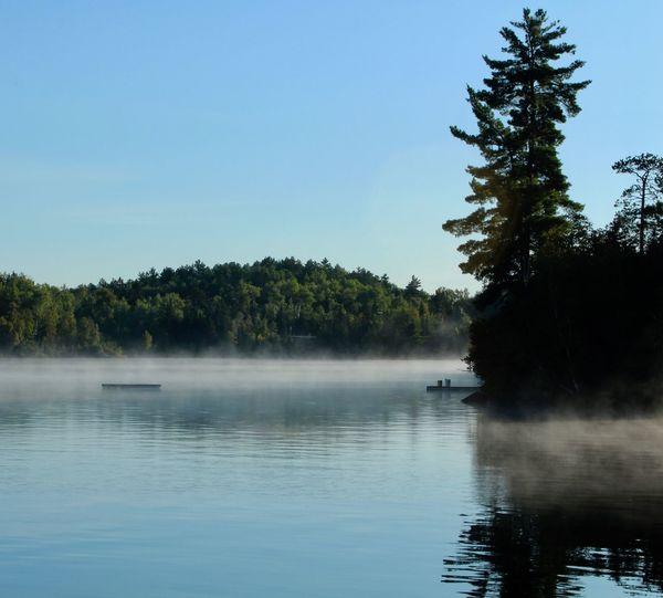 Morning fog in