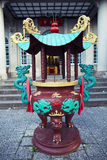 Architecture Astronomy Blessings Built Structure Celebration Chinese Lantern Chinese Lantern Festival City Cultures Day Multi Colored No People Outdoors Prayers Red Sky Taiwan Temple Travel Travel Destinations
